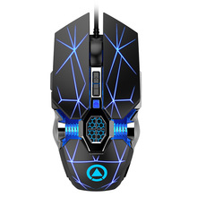 Silent Mouse Mechanical Computer-Mouse-Support Wired 7-Buttons New 3200dpi Backlit Definition