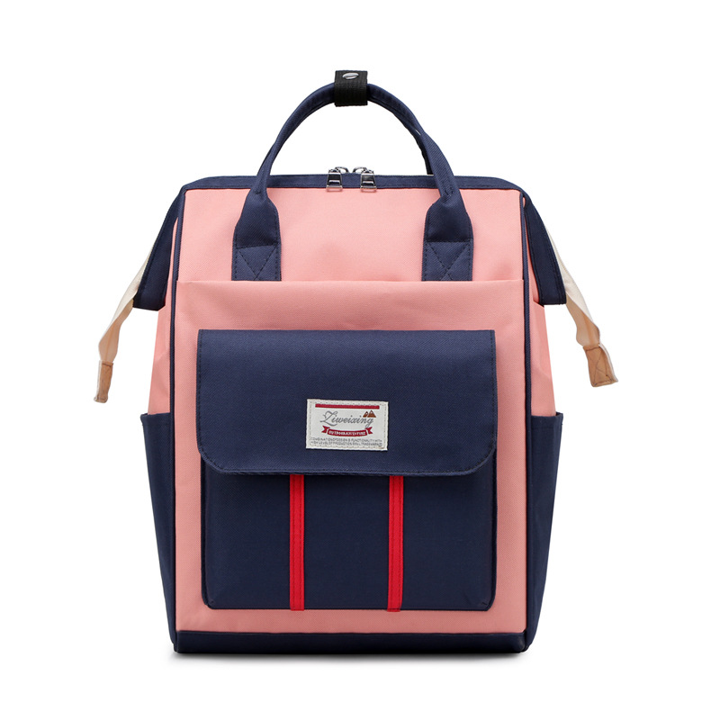 Fashion Large Capacity Diaper Bag Lightweight Oxford Cloth Multi-pockets One-Shoulder Handbag Maternal Nursing Travel Backpack