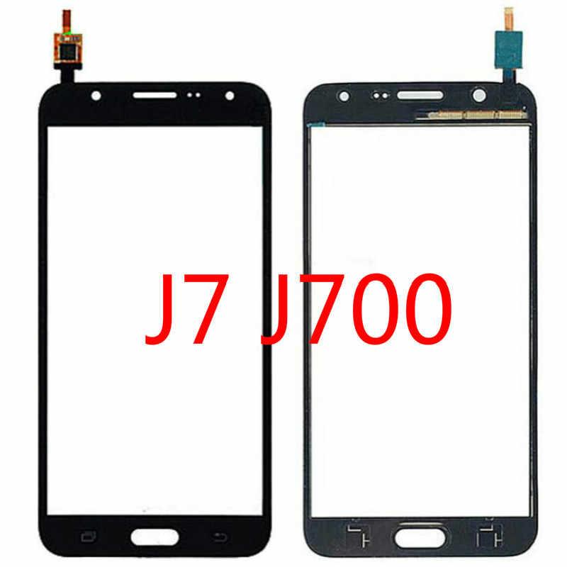 لمس الشاشة لسامسونج غالاكسي J7 2015 J700 J700F J700H J700M لمس لوحة محول الأرقام 5.5 ''شاشة الكريستال السائل الزجاج الأمامي أجزاء