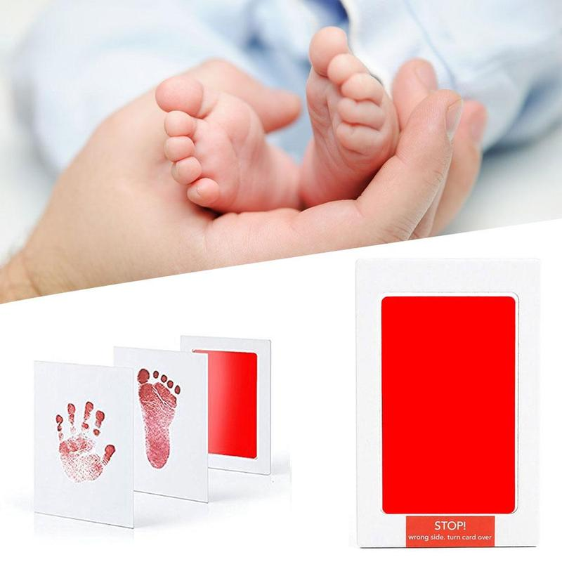 Baby Footprint Souvenir Safety Baby Footprint Handprint Ink Pads Washing Free Hand Foot Printing Oil Non-toxic Ink Pads For Baby