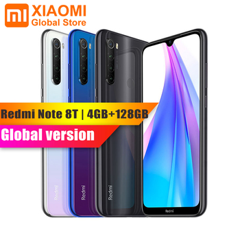 Wersja globalna Xiaomi Redmi Note 8T 4GB 128GB 18W szybkie ładowanie Smartphone Snapdragon 665 48MP aparat 4000mAh NFC Smartphone 6.3