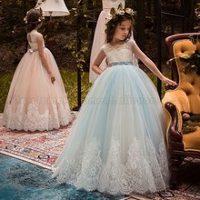 Hot Sale Factory Wholesale Sukienki Tulle Lace Girls Party Evening Weddings Pageant Flower Girl Dresses
