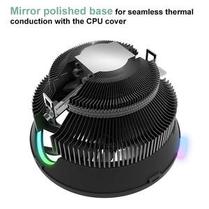 Image 3 - darkFlash CPU Air Cooler 3Pin Radiator RGB 120mm Cooler CPU Cooling Computer Case for LGA 1366/1156/1155/1150 AM4/AM3