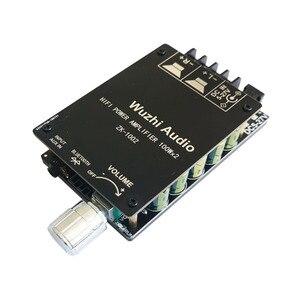Image 2 - ZK 1002 HIFI 100WX2 TPA3116 Bluetooth 5.0 amplificateur numérique haute puissance carte stéréo amplificateur Home cinéma