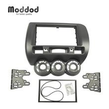цена на Wholesale Double Din Fascia for HONDA Jazz LHD or RHD Radio CD GPS DVD Stereo CD Panel Dash Mount Installation Trim Kit Frame