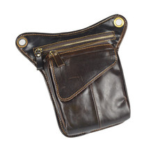 NEW Vintage Leather Drop Leg Bag Outdoor Thigh Waist Hip Fanny Pack for Men Women(China)