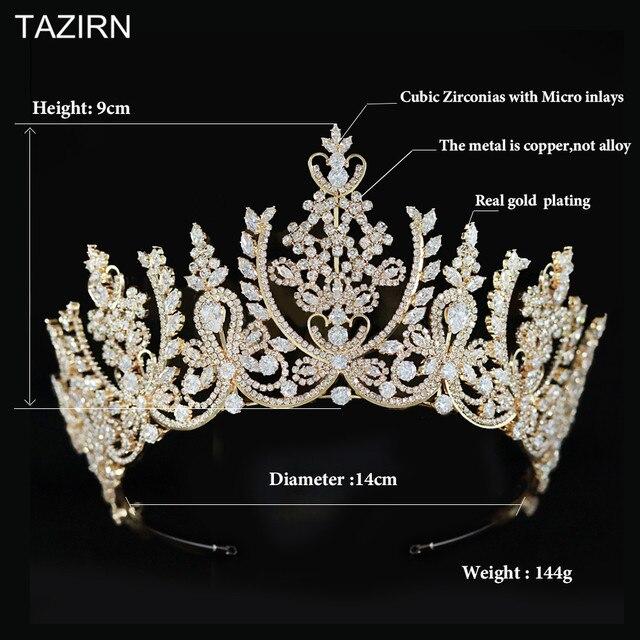European cz wedding crowns and tia