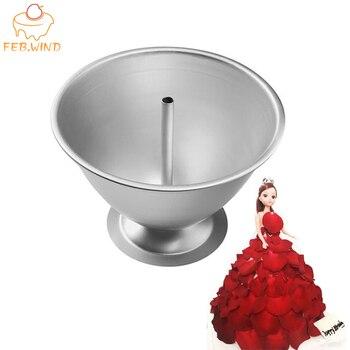 Aluminum Alloy DressDoll Cake Pan Set Princess Cake Mold/Pan Doll Cakes Tin 3d Cakes Baking Pans Metal 5/6/7/8 inch          379