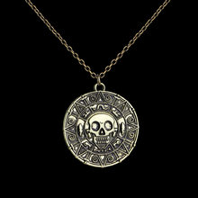 Collares De Moda Bijoux Homme Pirates Of The Caribbean Pirate Retro Schedel Gouden Munt Ram Wizard Waarzeggerij Astrologie Ketting(China)