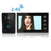 7 Inch Wireless Video Doorbell Villa Video Door Intercom Equipment Remote Open Electronic Lock Built in Battery