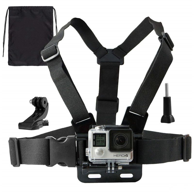 Chest Mount Harness Set For Gopro Hero 7 6 5 Black DJI Osmo Action Sony J Hook Mount screw Action Sports Cameras Accessories Kit image