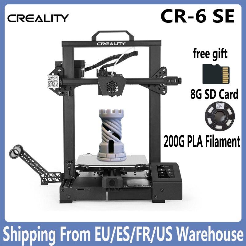 CREALITY-Impresora 3D CR-6 SE, máquina de impresión con placa base silenciosa de 32 bits, autonivelante, doble eje Z, Drucker