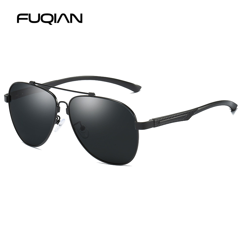 FUQIAN 2019 Brand Design Pilot Polarized Men Sunglasses New Technology Memory Metal Sun Glasses Women Driving Sunglass UV400 in Men 39 s Sunglasses from Apparel Accessories