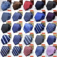 100 Styles Men's Ties Solid Color Striped Flower Floral 8cm Jacquard Necktie Accessories Cravat Party Mens Formal Dress