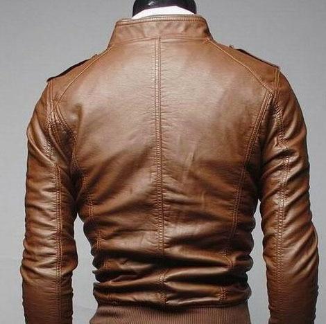 Men's Locomotive Coat  Jacket  Spring  Jacket Men 2020 Fashion  Leather Windbreaker Coats Motorcycle Leather 5