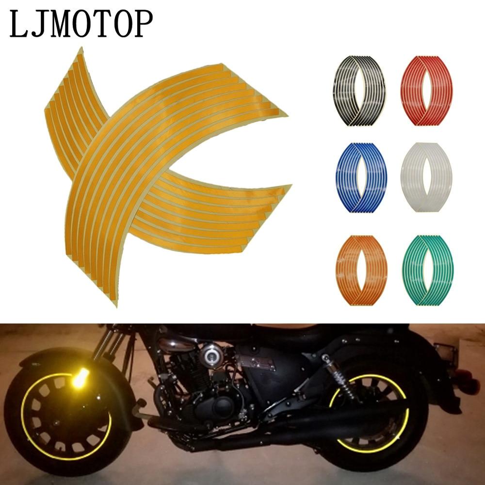 Wheel Sticker Reflective Rim Stripe Tape Bike Motorcycle Stickers For Honda CR 250 NC750X Kawasaki KX 125/65 KX250F Rayon