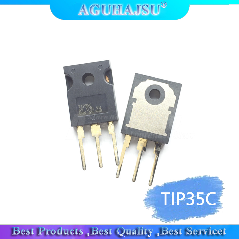 20 pcs of TIP35C TIP35 SILICON HIGH POWER TRANSISTOR