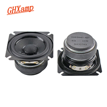 Ghxamp 2.5 Inch 4OHM 15W Volledige Range Speaker Bass Portable Home Theater Desktop Luidspreker Papieren Conus, rubber Rand Human Voice 2 Pcs