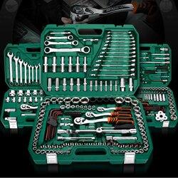 Juego de herramientas de reparación, herramientas de reparación de coches con llave de carraca automática, destornillador, llave hexagonal