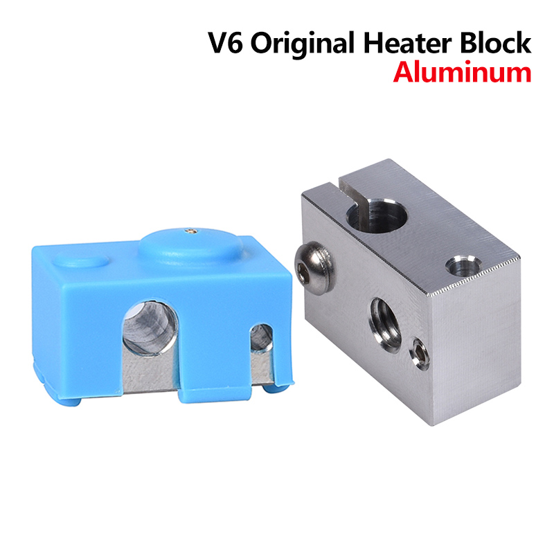 High Quality V6 Heater Block Aluminum Silicone Socks For E3D V6 J-head Hotend PT100 3D Printer Parts V6 Nozzle Heat Block Titan