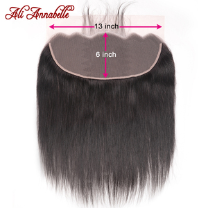 Brazilian Straight Hair 13x6 Lace Frontal With Baby Hair Natural Color Remy Human Hair Free Part Lace Frontal Closure(China)