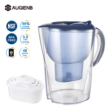 AUGIENB Alkaline Water Pitcher Filter 5  Ionizer Filtration System Household Water Purifier Home Healthy Drink Machine 4.2L
