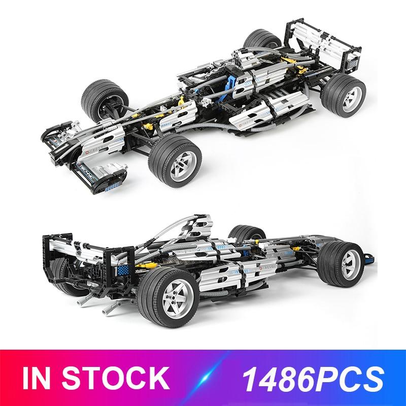 Lepinblocks 1486pcs Silver Champion Car Compatible Technic 8458 Building Bricks Educational Toys Birthdays Gfits For Children