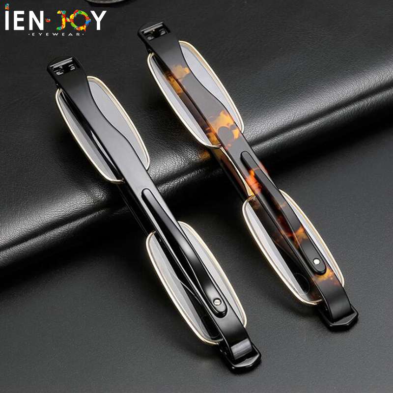 IENJOY Reading Glasses 360 Degree Rotation Foldable Men Reading Glasses With Case Presbyopic Glasses Plastic Eyeglasses Eyewear