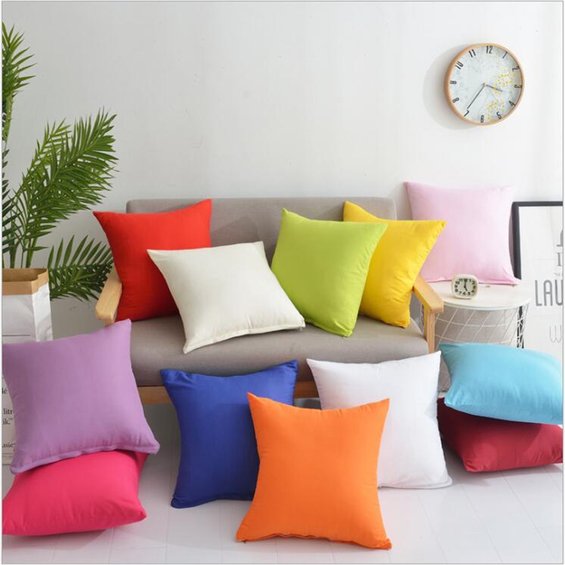 12 Colors Pillow Cover Velvet Cushion Cover For Living Room Sofa 45*45 Kussenhoes Blue Home Decorative Housse De Coussin