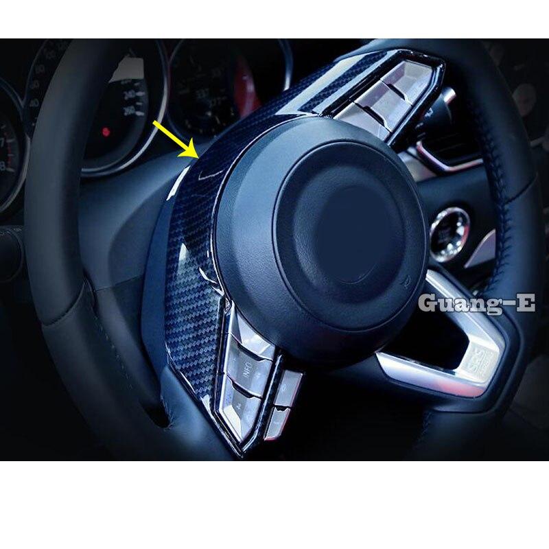 Car Sticker Styling Steering Wheel Interior Cover Kit Frame Trim Lamp Parts For Mazda 3/6 CX-5 2017-2020 CX-8 CX-3 CX-9 CX-7