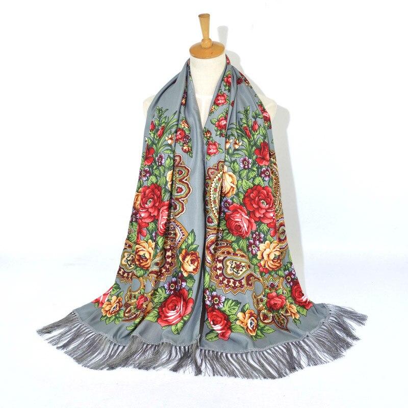Frauen Baumwolle Gedruckt Schal Winter Russische Schal Lange Bufandas Invierno Mujer Cashew Wrap Babuschka Kopf Schal Stolen Spanien Weibliche