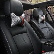 2pc universal assento de carro cabeça pescoço travesseiros carro viagem pescoço resto almofadas assento almofada apoio maré marca encosto cabeça do carro