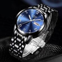 2020 yeni saatler Mens LIGE üst marka moda tarihi hafta erkek paslanmaz çelik su geçirmez iş erkek kol saati Relogio Masculino