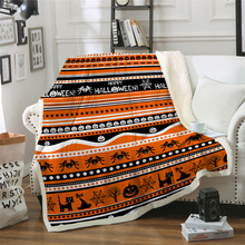 Halloween Sherpa Fleece Blanket Spider Plush Throw Blankets for Kids Adult Thin Soft Drop Shipping