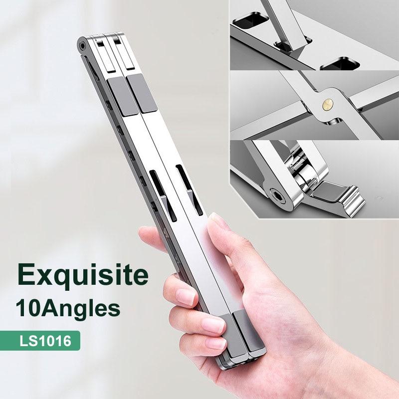 X Style Adjustable Foldable  Aluminum Laptop Stand Desktop Notebook Holder Desk Laptop Stand For 7-15 Inch Macbook Pro Air