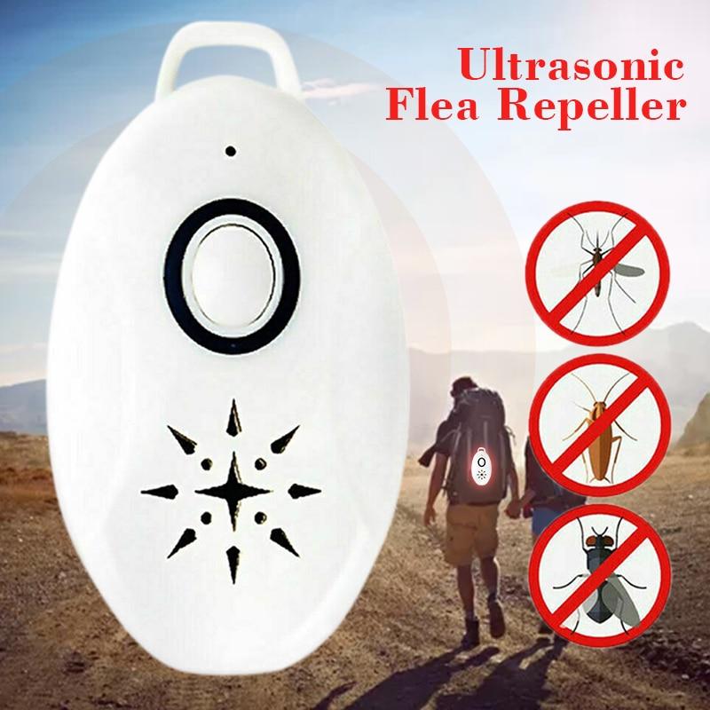 Portable Ultrasonic Flea Repeller Mini USB Flealess Ultrasonic Flea Tick Repeller Pets Electronic Outdoor Supplies 60*36*15mm