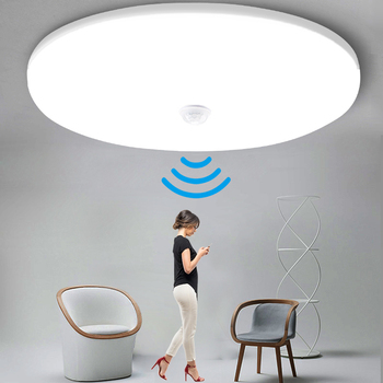 Motion Sensor Led Ceiling Light Fixtures Surface Mounted Ceiling Lamp 12W 18W 30W 50W Panel Night Light 220V For Home Bedroom