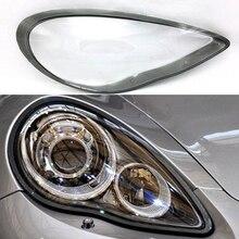 Lente do farol do carro para porsche panamera 2010 2011 2012 2013 lente do farol do carro substituição auto capa de escudo