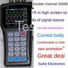 Dual channel handheld oscilloscope…
