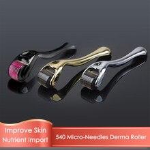 Dermaroller à micro-aiguilles, Instrument de soin de la peau, pour le Visage, 540mm, 1mm, 0.5mm