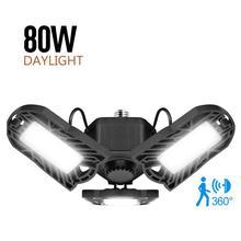 8000LM LED Ceiling Light Body Sensitive-lamp 80W Fans-light 85-265V 60W-panel-lights Super-bright Floodlight Industrial Lighting cheap oobest CN(Origin) None Aluminum LED Bulbs Deformable Lamp LED Garage Lights 6000 8000K (white light) aluminum + plastic