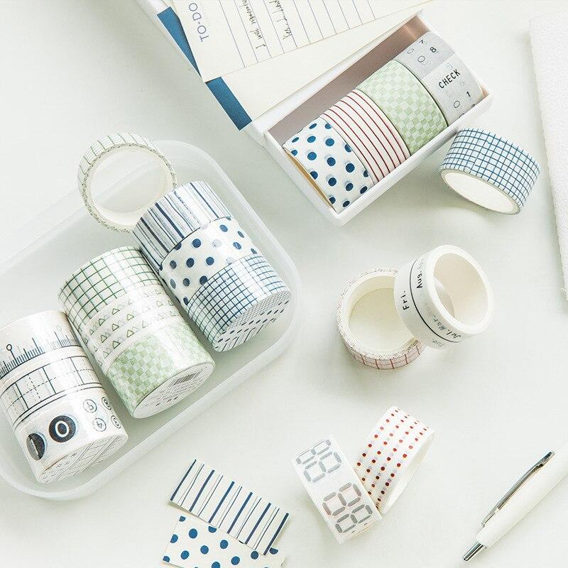 3 Pcs/set The Sense Of Life Geometric Washi Tape Set Scrapbooking DIY Bullet Journal Stationery Masking Tape School Office