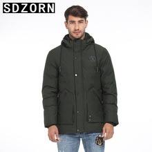 Mens Winter Jacket Hooded Parka Warm Padded Coat for Men 2019 New Fall Winter Outwear цены онлайн