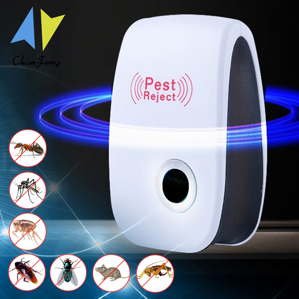 ChanFong Ultrasonic Pest Repeller Rodent Control Indoor Cockroach Anti Mosquito Insect Killer Pest Repeller Electronic Repellent
