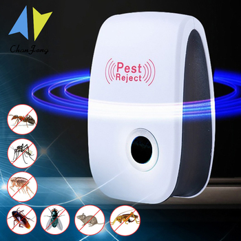 ChanFong Ultrasonic Pest Repeller Rodent Control Indoor Cockroach Anti Mosquito Insect Killer Electronic Repellent - discount item  40% OFF Garden Supplies