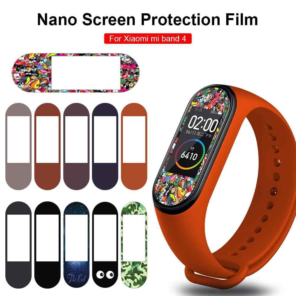 Più nuovo Impermeabile Pellicola Per Mi Band 4 Versione NFC TPU Nano a prova di Esplosione di Protezione Dello Schermo Pellicola a Colori Per Il Miglio braccialetto 4
