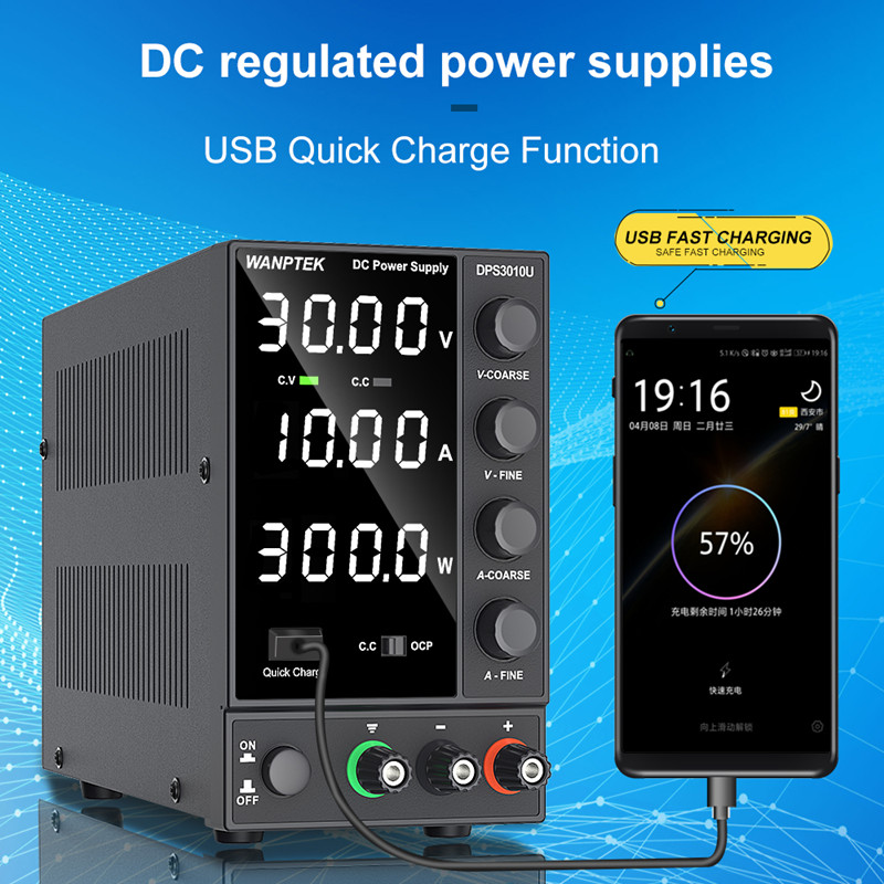 New USB Adjustable DC Laboratory 30V 10A Lab Power Supply Adjustable 60V 5A Voltage Regulator Stabilizer Switching Power Supply-1