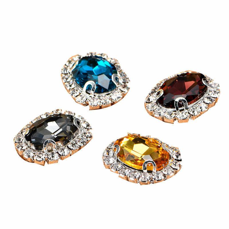 10 stks/partij multi-size Ronde Acryl Steentjes Decoratieve Knoppen Mix-Kleur Diy Haar Meisje Lint Bruiloft Decoratie Accessoire
