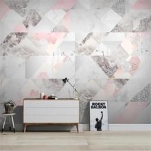 Large 3D Wallpaper Mural Custom Jazz White Marble Modern Geometric TV Sofa Background Wallpaper Mural free shipping large mural sofa tv background wall custom european style painting wallpaper tulip mural