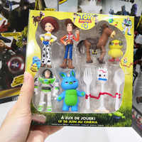 High quality Boxed 7pcs Toy Story 4 Buzz Lightyear Forky Cartoon Woody Jessie Dog Action figure collectible Doll toys for child